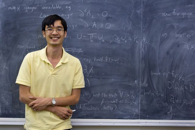 """When he received the Fields Medal in 2006, the International Mathematical Union lauded Terence Tao for his """"other-worldly ingenuity for hitting upon new ideas."""" Image credit: Reed Hutchinson/UCLA"""