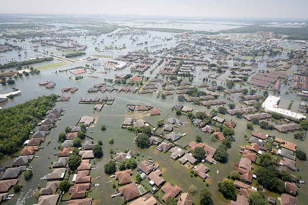 Flooding in Texas. Image credit: SC National Guard  (Source: Wikipedia)