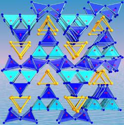 Kristallstruktur von Mo2B4O9. (Foto credit: Uni Innsbruck)