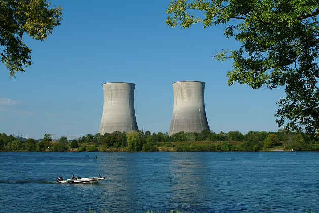 Watts Bar Unit 2 in East Tennessee, which began operating last October, is the first commercial nuclear reactor constructed in the United States in more than 20 years. Image credit: TVA Web Team (Source: Wikipedia)