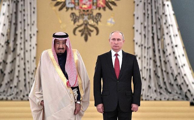President Vladimir Putin with King Salman bin Abdulaziz Al Saud ofSaudi Arabia. Photo credit: Kremlin.ru