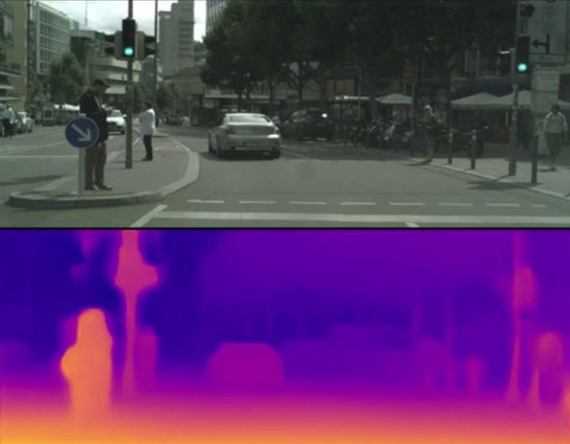 UCL MonoDepth software in action (Image credit: Dr Gabriel Brostow)
