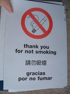 A smoke free world. Image credit: Joe Hall (Source: Flickr)