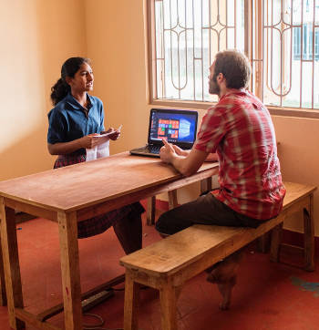 Franz Gastler sees technology as a key to helping girls in Jharkhand, India, become international changemakers. Photo credit: Leo Cackett