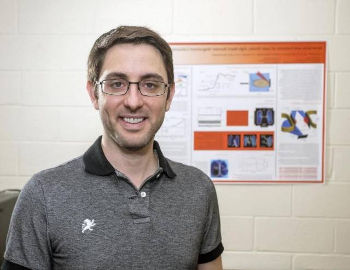 A team of scientists has generated the first high-energy shock waves, which propel cosmic rays and supernova particles to velocities near the speed of light,in a laboratory setting, opening the door to new understanding of these mysterious processes. Picture here is Derek Schaeffer, a physicist at Princeton University and the U.S. Department of Energy's (DOE) Princeton Plasma Physics Laboratory (PPPL), and the lead author of a July paper in Physical Review Letters that outlines the experiments. Photo by Elle Starkman, Princeton Plasma Physics Laboratory