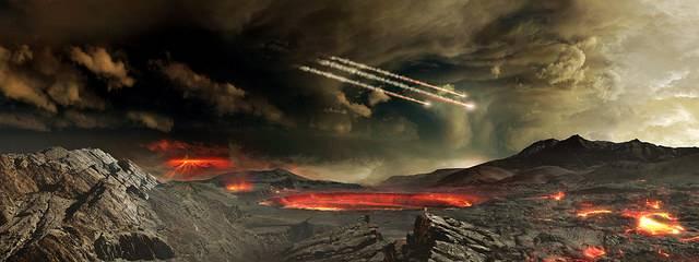 Künstlerische Darstellung der Erde in ihren jungen Jahren: Forscher haben dank sehr präziser Messmethoden neue Einblicke in die ursprüngliche chemische Zusammensetzung unserer Erde erhalten. Image credit: NASA Goddard Space Flight Center (Source: Flickr)