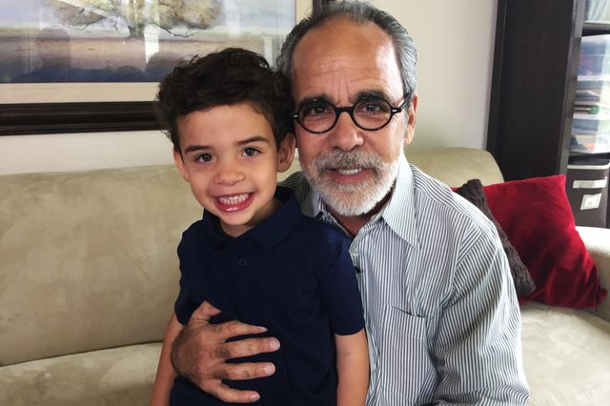 Howard Broadman approached UCLA with the concept of donating a kidney so that his grandson Quinn would be eligible to receive one in the future. Photo credit: UCLA Health