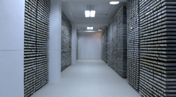 The Lamont-Doherty Core Repository contains one of the world's most unique and important collection of scientific samples from the deep sea. Sediment cores from every major ocean and sea are archived here. (Photo courtesy of Lamont-Doherty Earth Observatory)