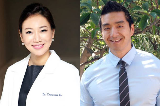 Researchers Dr. Christine Hong, left, and Dean Ho, along with their colleagues, developed a way to stabilize the palate. Image credit: UCLA Health