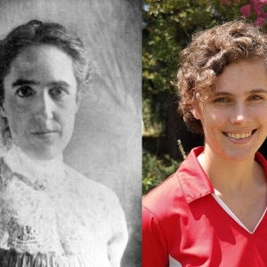 Henrietta Swan Leavitt (left) and Kate Hartman (right)—two astronomers a century apart studying Cepheid variable stars. Image by Carnegie's Cynthia Hunt and the SDSS collaboration.