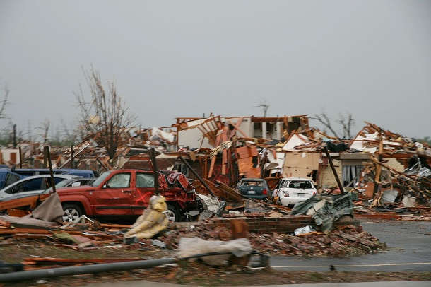 The 2011 tornado in Joplin, Missouri, was one of the most destructive in U.S. history—killing 161 people, injuring 1,150 and destroying approximately one-third of the city's homes. Image credit: KOMUnews (Source: Wikipedia)