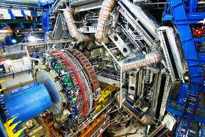 Der Teilchendetektor ATLAS. Foto credit: CERN