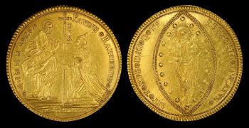 Nicht mit Münzen oder Barren wie hier, sondern mit mikroskopisch kleinen und dünnen Beschichtungen aus Gold arbeiten Paul Scheier und sein Team. Image credit: skeeze (Source: Pixabay)
