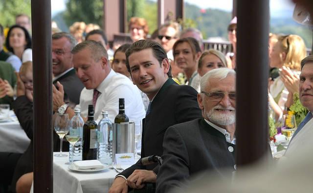 Federal Chancellor oftheRepublic ofAustria Sebastian Kurz atthewedding ofAustrian Foreign Minister Karin Kneissl andWolfgang Meilinger. Image credit: Kremlin.ru