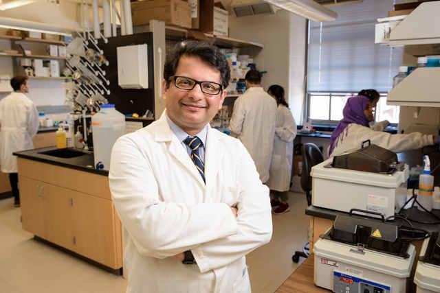 Salil Lachke, UD associate professor of biological sciences. Photo by Evan Krape
