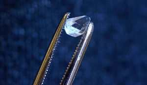 Yale physicists looked for a signature of a discrete time crystal in a crystal of monoammonium phosphate. Image credit: Yale University