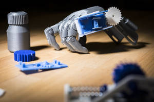 Researchers at the University of Washington have developed 3D printed assistive technology that can track and store their use — without using batteries or electronics. Image credit: Mark Stone/University of Washington