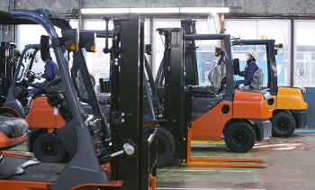 Toyota Material Handling Group forklifts. Photo courtesy of Toyota Material Handling Group
